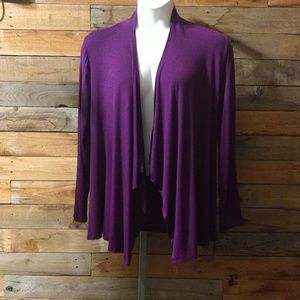 Rags and Couture Sweaters - Eggplant cardigan